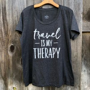 Travel Is My Therapy Tee